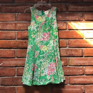 Maeve Anthropologie colorful lace dress